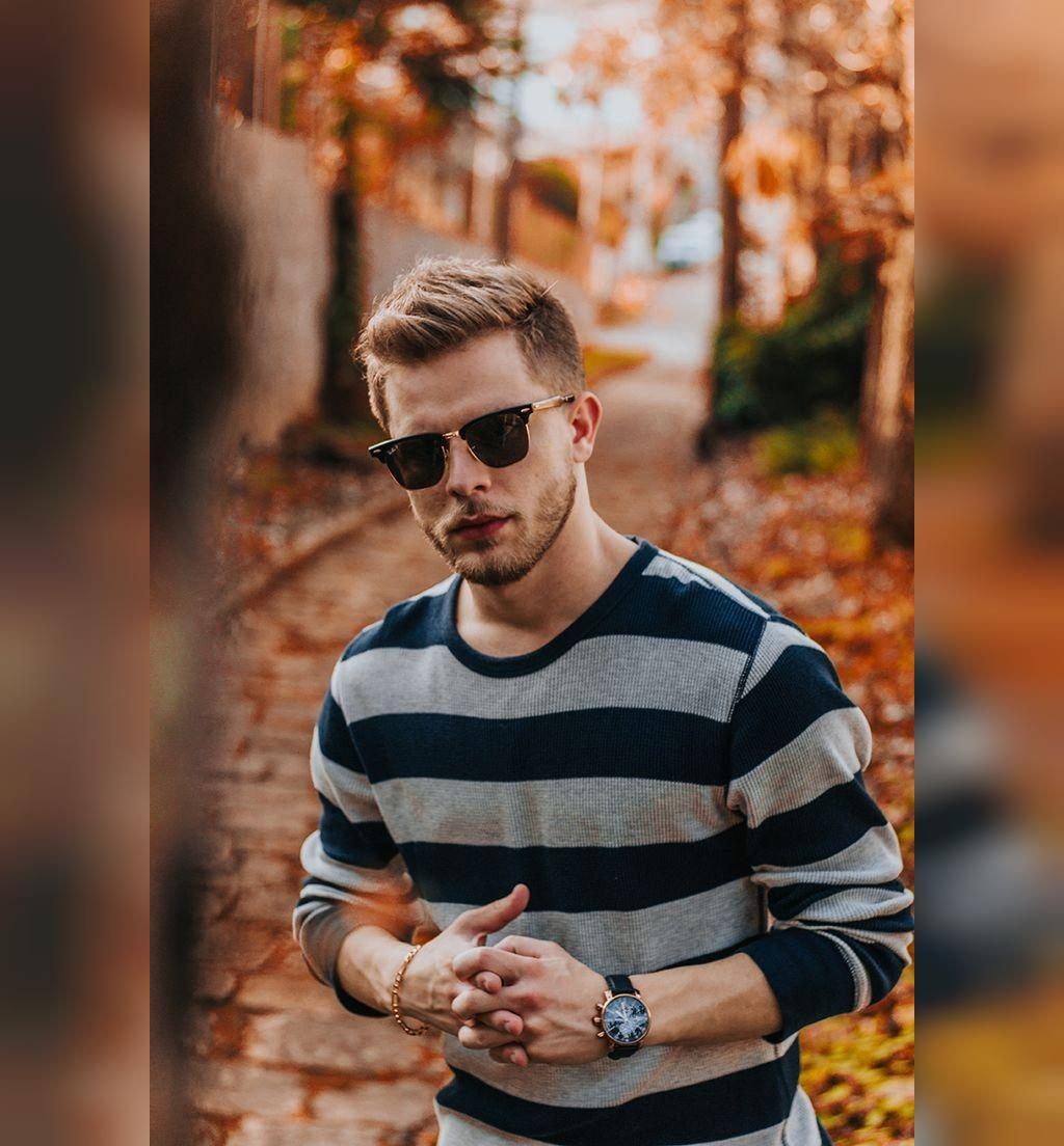 ژست عکاسی مردانه پاییزی