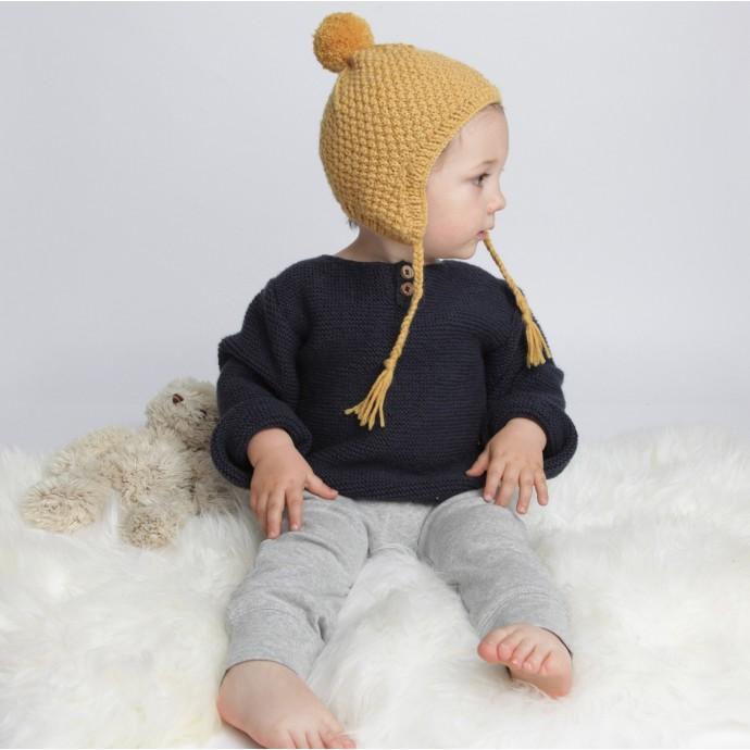 مدل کلاه بافتنی لبه دار پسرانه