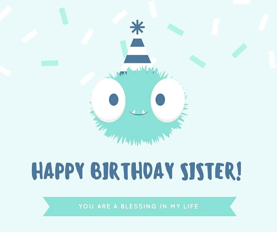 تبریک تولد خواهر
