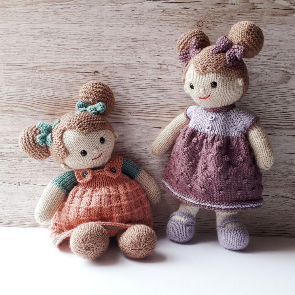 عکس عروسک بافتنی دخترانه زیبا
