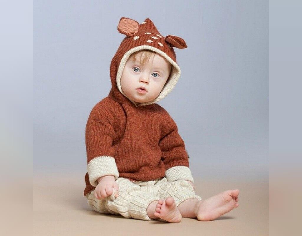 مدل سرهمی بافتنی نوزاد پسر کلاه خرگوشی