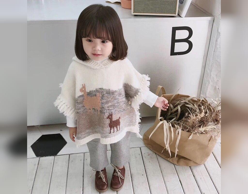 مدل لباس بافتنی دخترانه شنلی