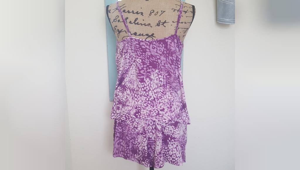 Purple Floral Camisole & Shorts PJS جنیفر لوپز
