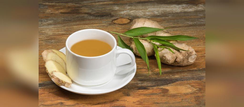 چای زنجبیل با روغن کرچک