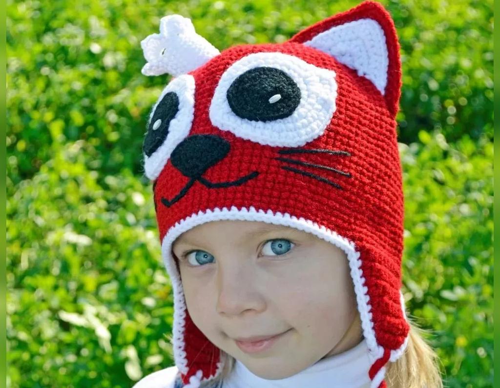 مدل کلاه بافتنی بچه گانه طرح حیوانات جنگل
