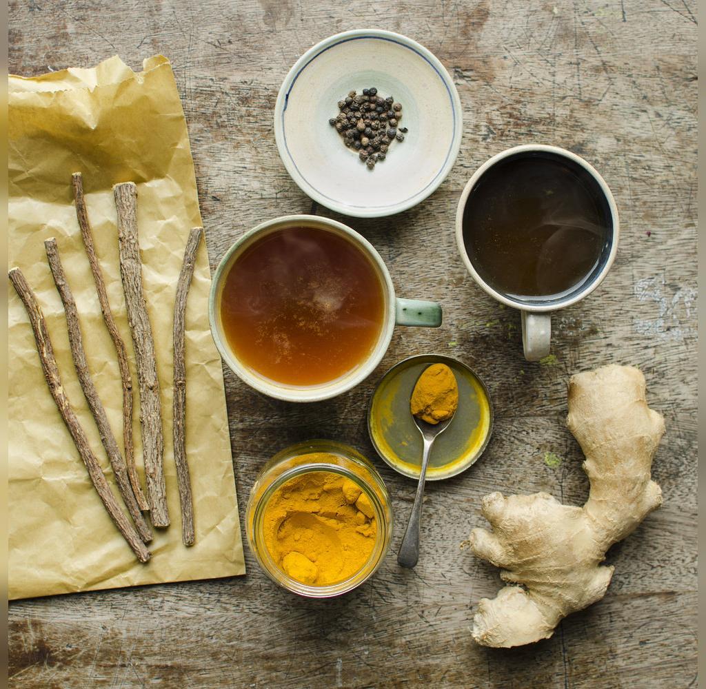 خواص چای زنجبیل زردچوبه برای افسردگی و سلامت روان