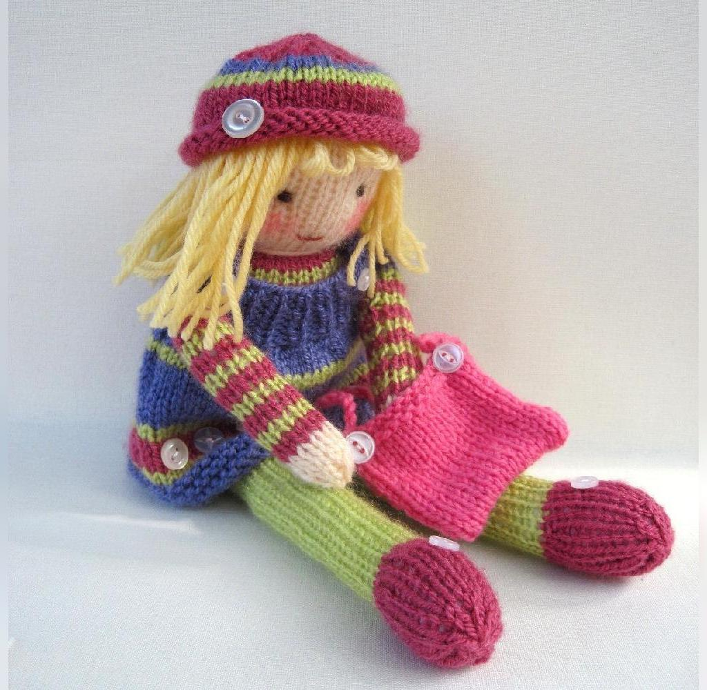 عکس عروسک بافتنی دخترانه