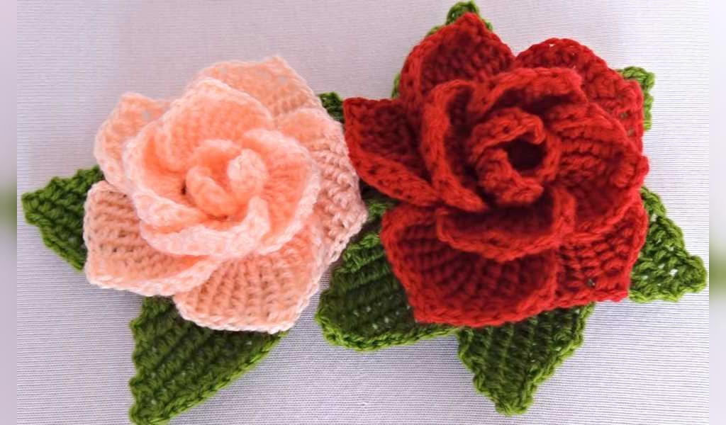 مدل گل بافتنی زیبا