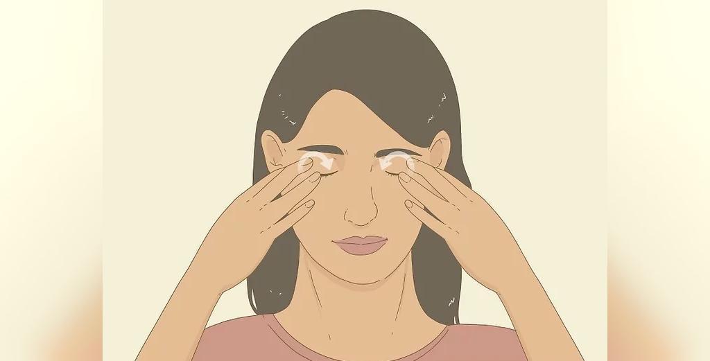 ماساژ چشم، برای درمان خشکی چشم