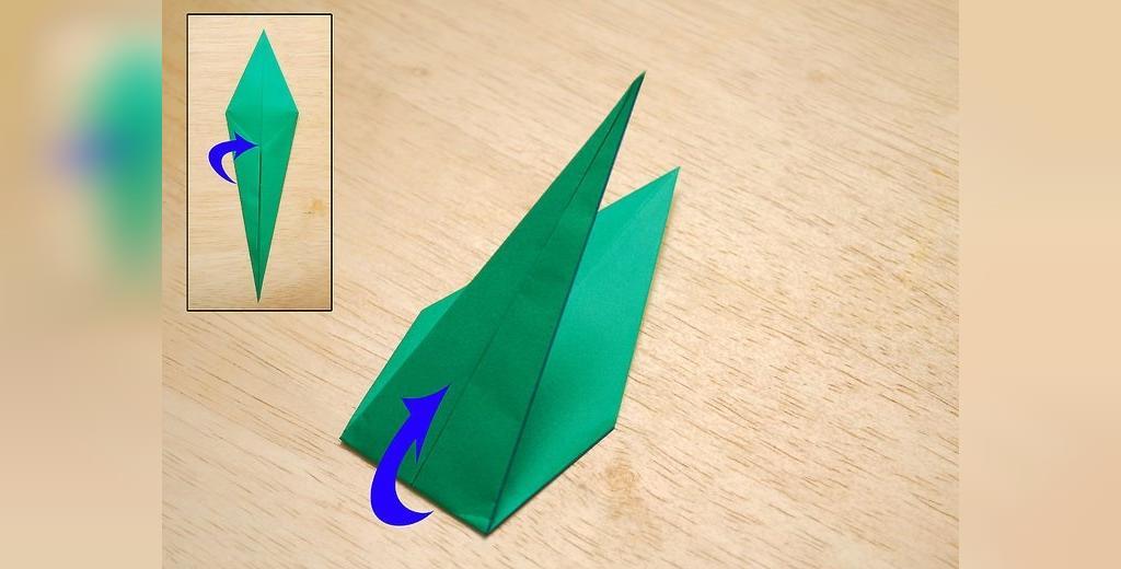 شیوه ساخت گل رز اوریگامی ایستاده