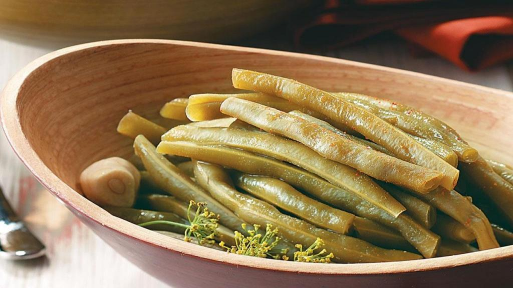 طرز تهیه ترشی لوبیا سبز خوشمزه و ساده خانگی مرحله به مرحله