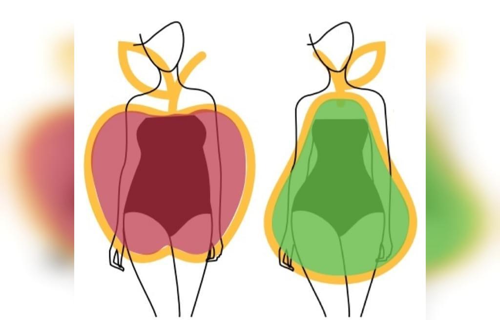 چاقی گلابی شکل و چاقی سیبی شکل