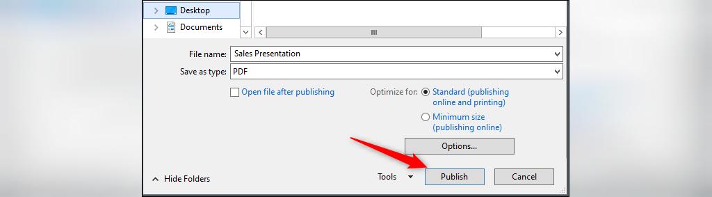 روش ذخیره کردن فایل پاور پوینت به صورت pdf
