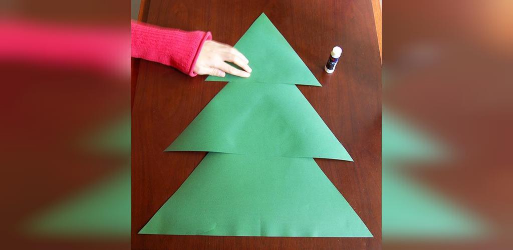 ساخت درخت کریسمس با کاغذ در خانه