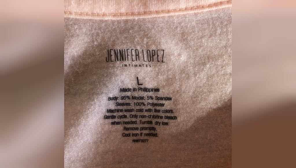 Jennifer Lopez Apricot Flutter Sleep Top, Large جنیفر لوپز
