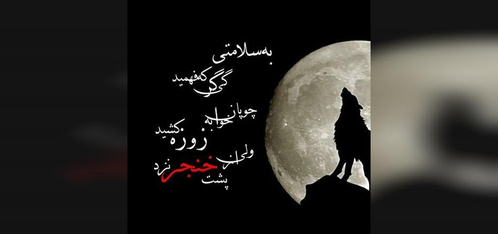 عکس نوشته زیبا در مورد گرگ