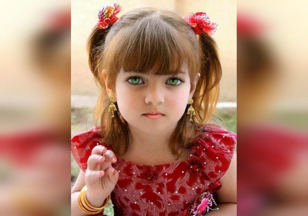 عکس دختر بچه خوشگل با چشم های سبز