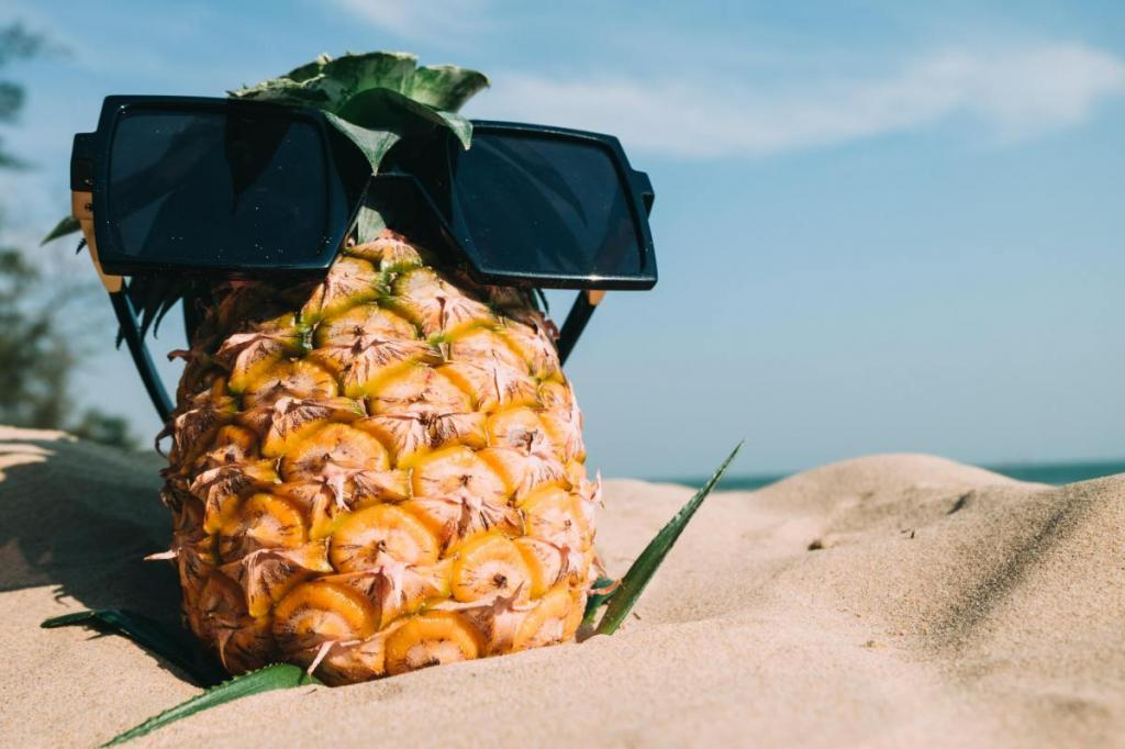 خاصیت آناناس برای پوست و مو