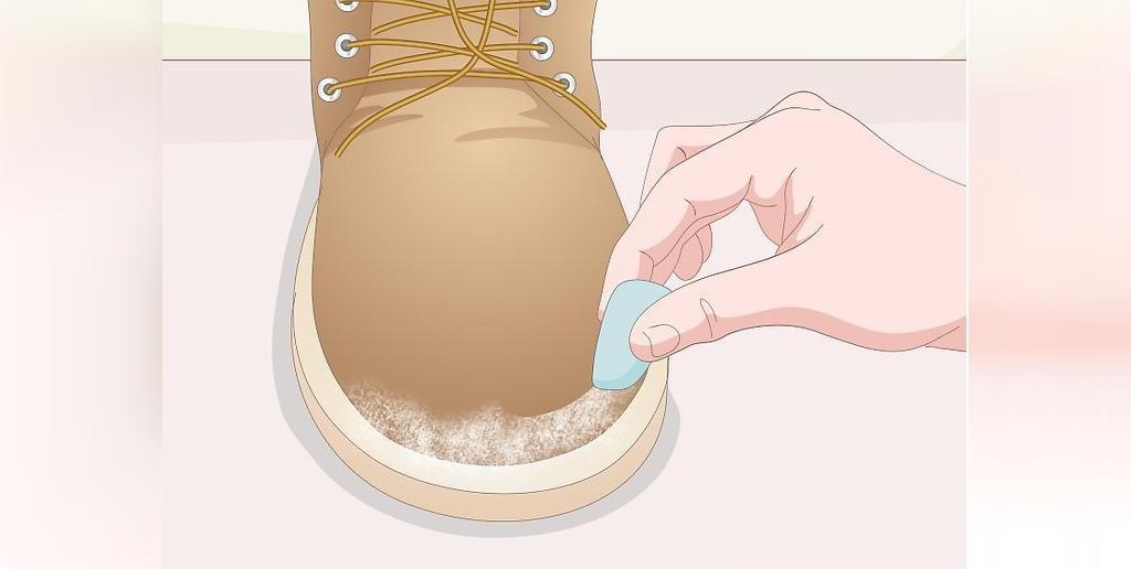 تمیز کردن کفش های نبوک با پاک کن