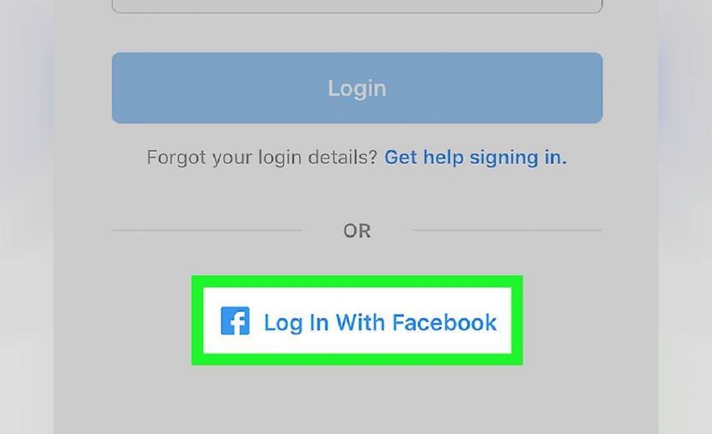 بازیابی رمز عبور اینستاگرام با استفاده از فیسبوک