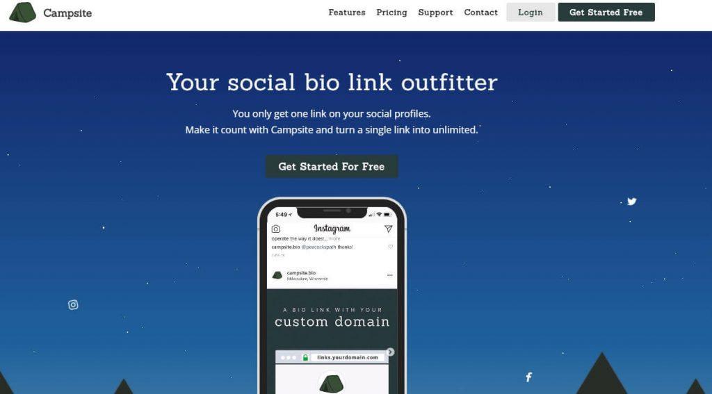 گذاشتن لینک سایت در پست اینستاگرام با Campsite