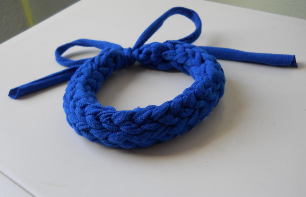 دستبند بافتنی تک رنگ