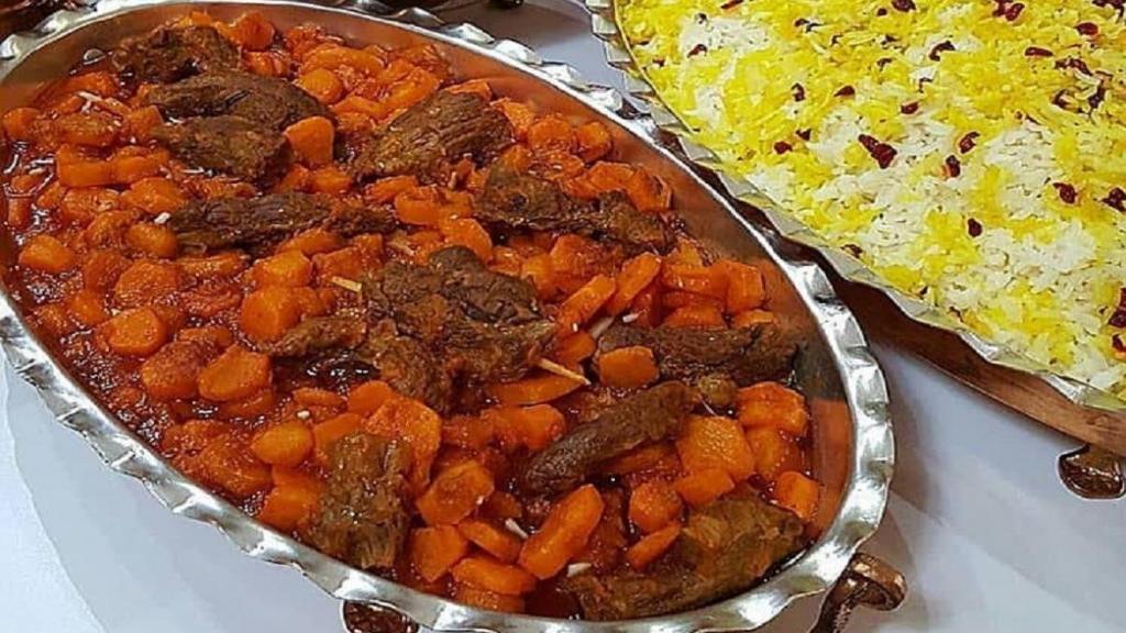 طرز تهیه خورشت هویج زعفرانی خوشمزه و مجلسی تبریزی با گوشت