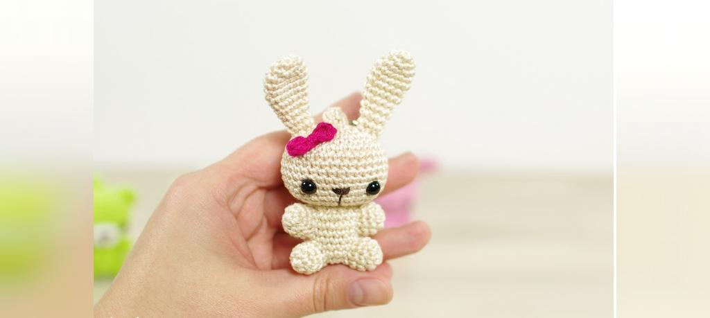 مدل جاکلیدی بافتنی فانتزی طرح خرگوش