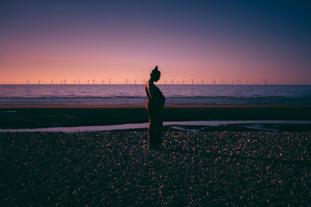 ایده عکس بارداری در ساحل و دریا