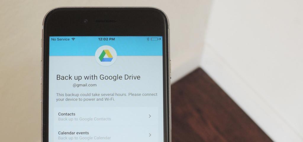 پشتیبان گیری از مخاطبین در گوگل درایو
