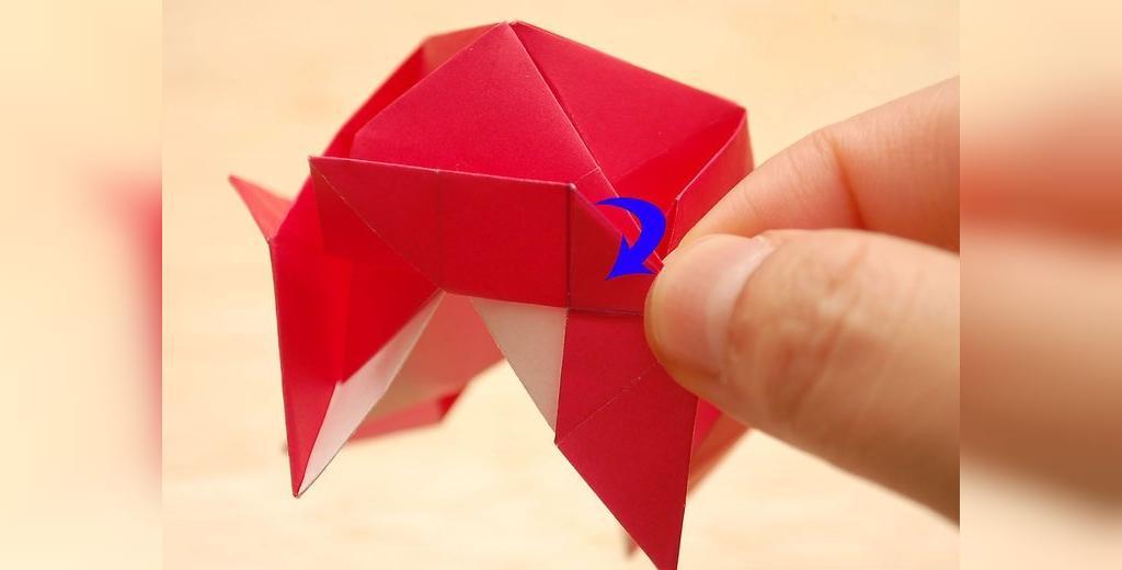 آموزش ساخت گل رز کاغذی با هنر اوریگامی