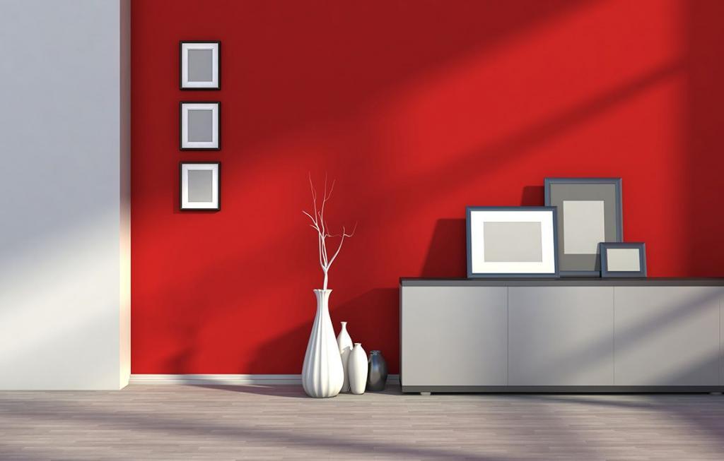 رنگ قرمز مناسب برای اتاق نشیمن