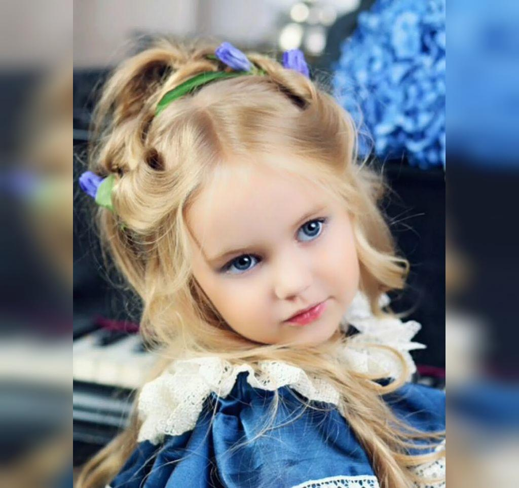 عکس دختر بچه های چشم رنگی بلوند