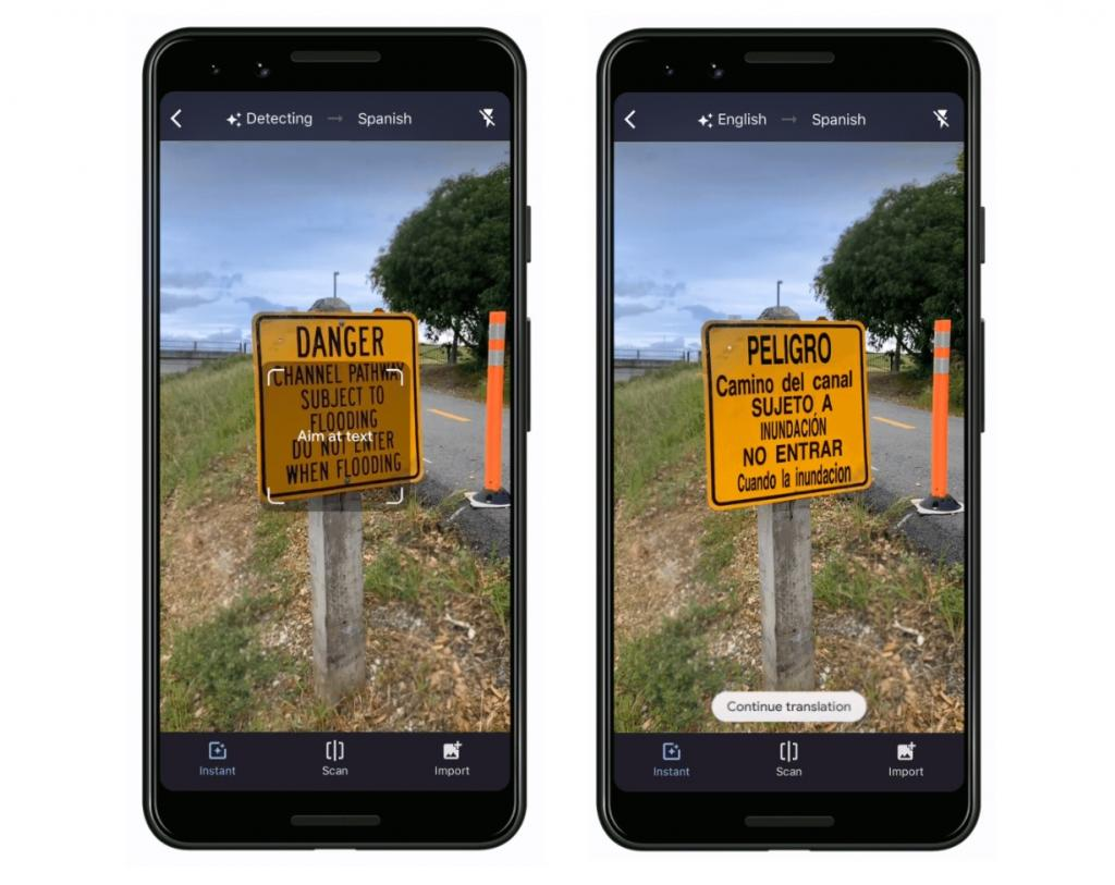 دوربین ترجمه گوگل برای کامپیوتر