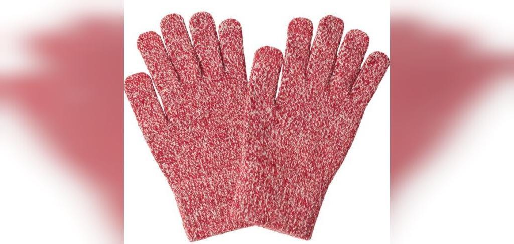 دستکش بافتنی دخترانه با دو میل