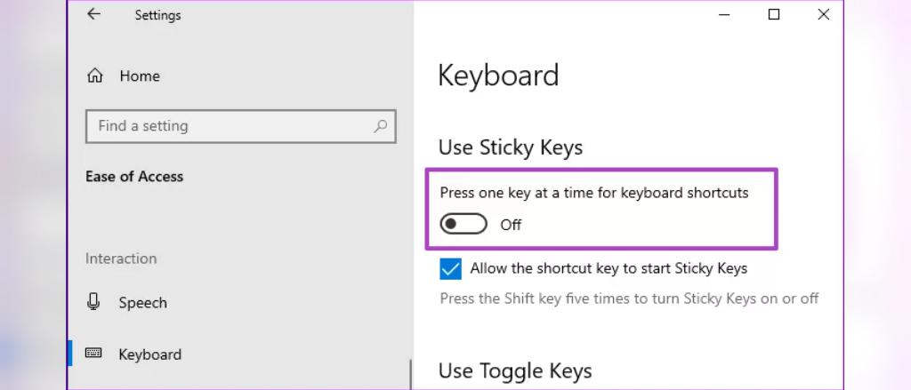 حل مشکل میانبرهای صفحه کلید در ویندوز 10