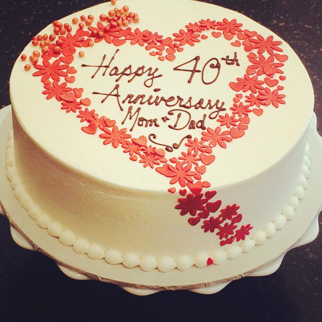 کیک سالگرد ازدواج اینستایی