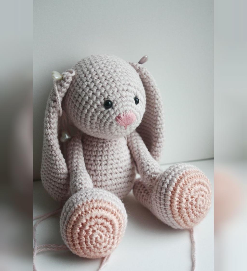 مدل عروسک بافتنی خرگوش گوش دراز شیک
