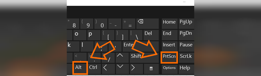 کلید میانبر اسکرین شات ویندوز 10
