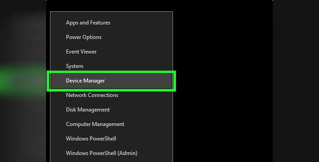 برای حل مشکل شارژ نشدن باتری لپ تاپ ویندوزی، Device Manager را باز کنید