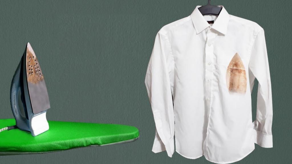 روش ساده و خانگی برای از بین بردن لکه سوختگی اتو از روی لباس