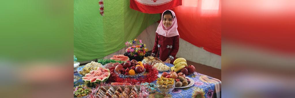 تزیین شب یلدا برای مدرسه بچه ها
