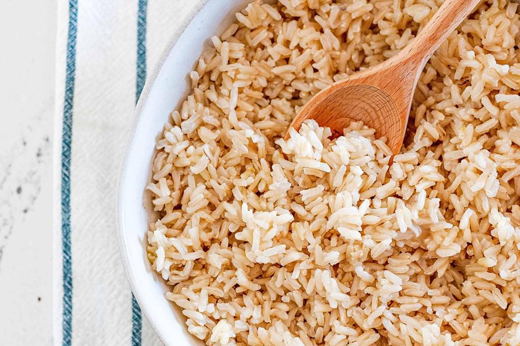 پاکسازی رحم با برنج سبوس دار