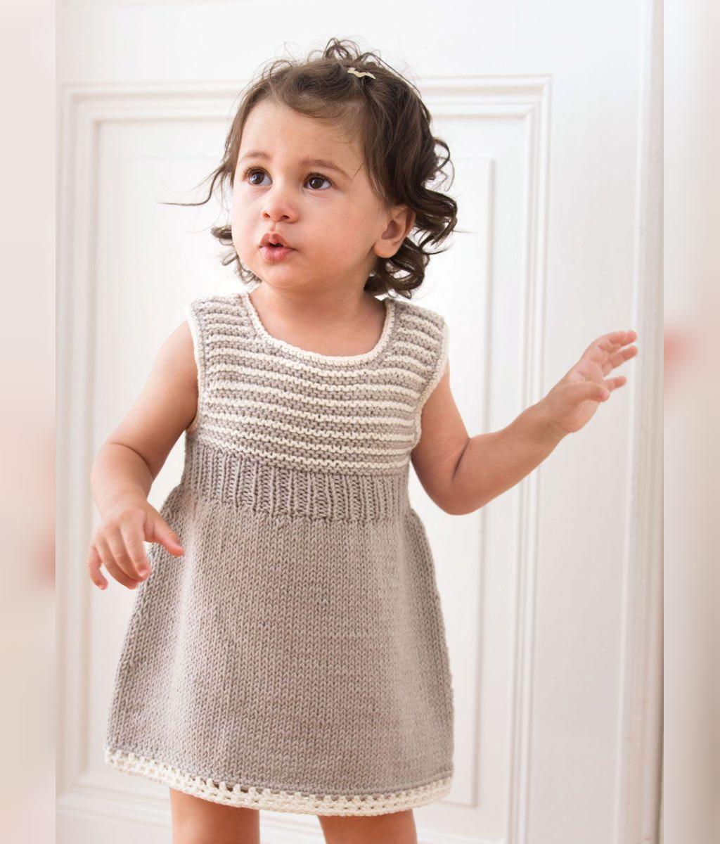 مدل پیراهن دخترانه قلاب بافی زیبا و ساده