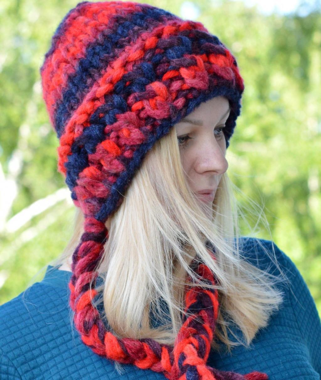 مدل کلاه بافتنی زنانه رنگارنگ شیک