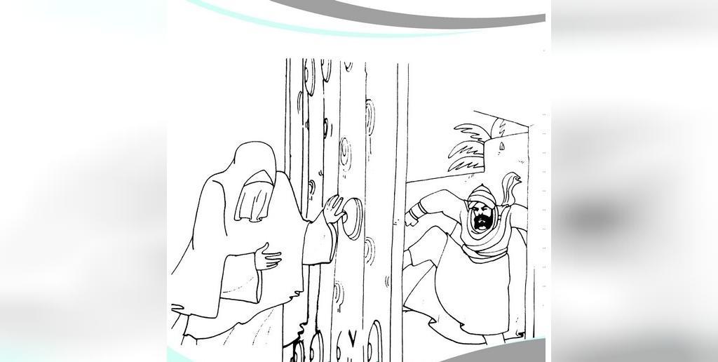 رنگ آمیزی نقاشی شهادت حضرت فاطمه زهرا (س)