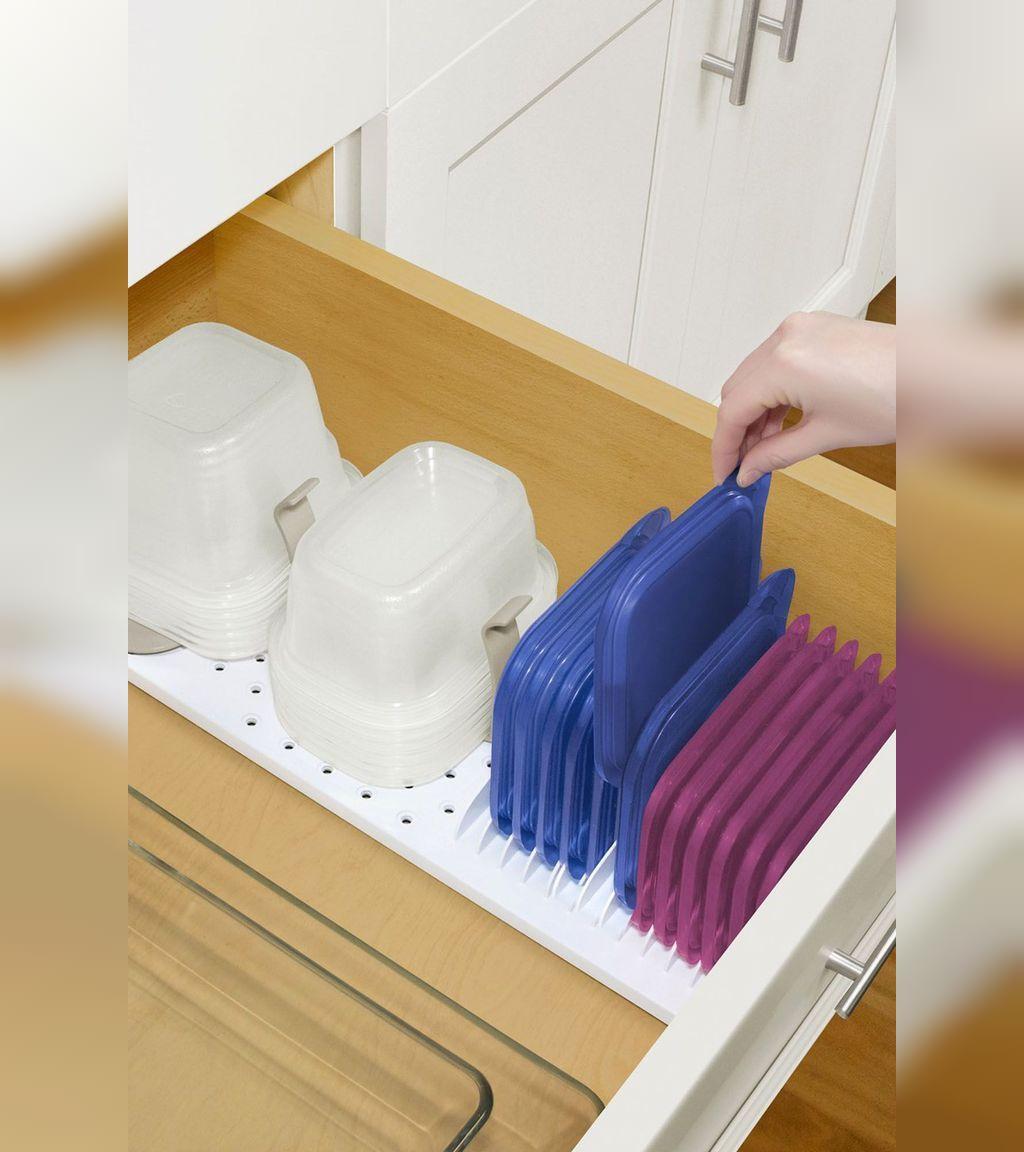 نظم دهنده کشوی ظروف مواد غذایی، برای آشپزخانه های کوچک