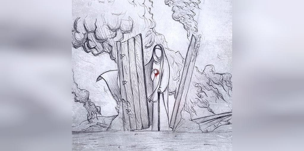 عکس نقاشی شهادت حضرت فاطمه سلام الله علیها
