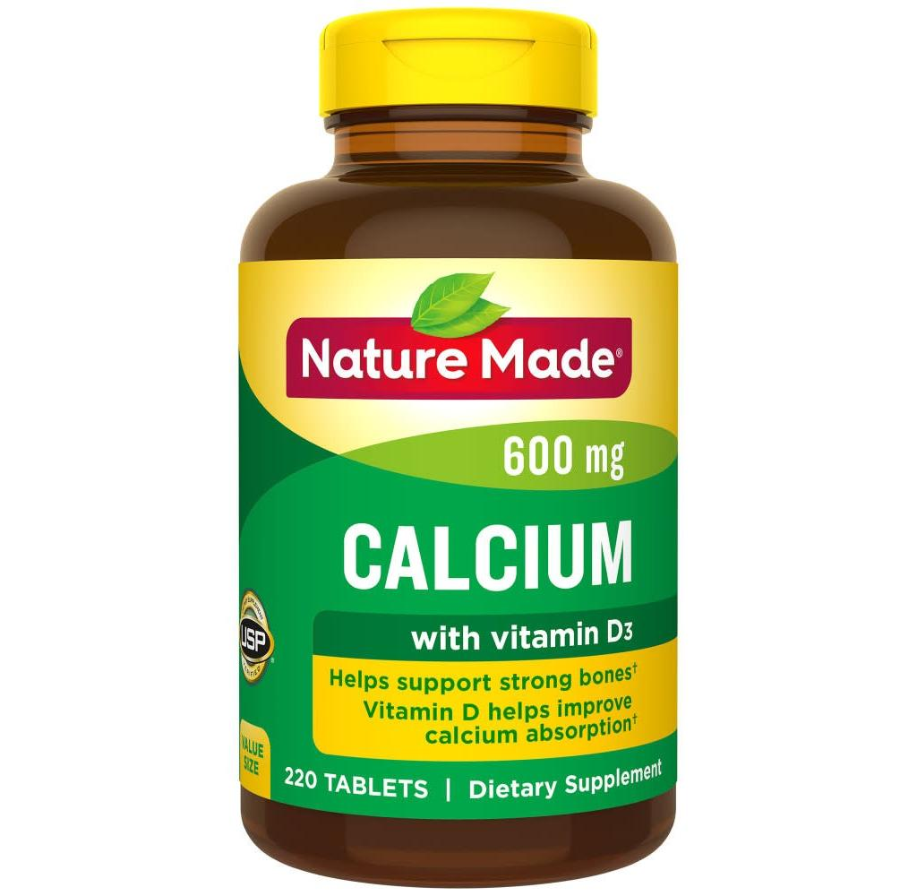 مقدار مصرفی کلسیم و ویتامین دی