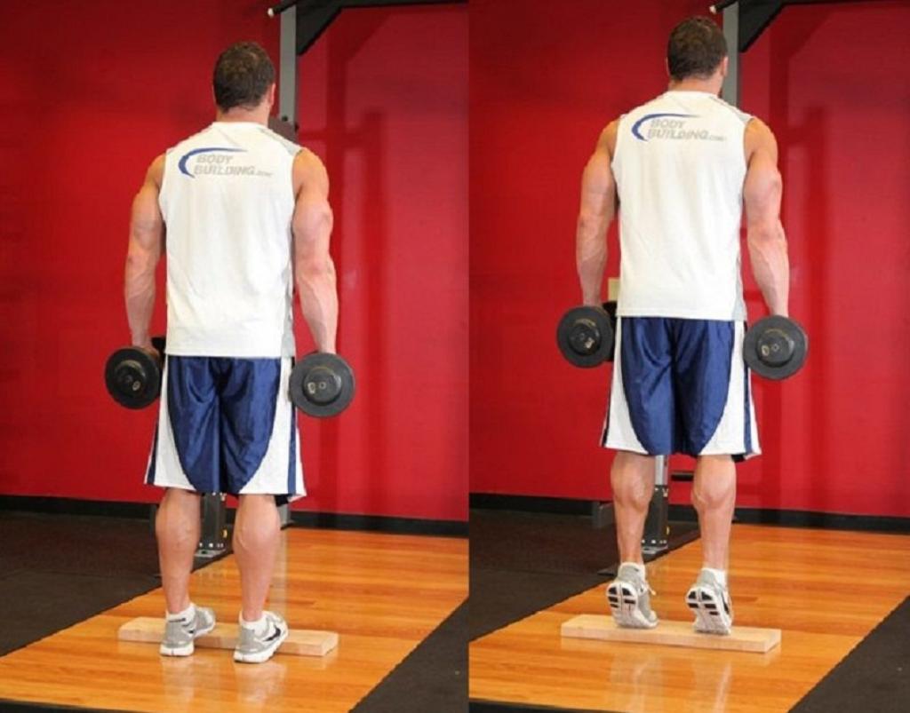 حرکت عضلات ساق پا (Calf raises) برای حجیم کردن پاها